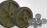 1-35-US-light-tank-M3-M3A1-M5-Stuart-welded-road-wheels-set-and-Idler-wheels-w-blanked-holes-