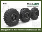 1-35-Sagged-wheel-set-Kama-for-6X6-Truck-Kamaz-5350-6pcs-