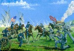 1-72-Union-and-Confederate-Artillery-Cavalry-and-Infantry-with-diorama-base