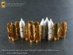 1-35-Brass-Preformed-15cm-Shell-Projectile-Containers-for-WW-II-German-Sd-Kfz-138-1-Ausf-M-Grille