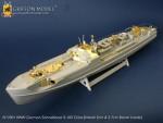 1-72-WW-II-German-Schnellboot-S-100-Class-w-2cm-Flakvierling-38-Metal-2cm-Barrel-Inside
