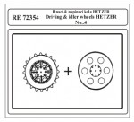 1-72-Driving-and-idler-wheels-HETZER-No-4