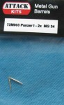 1-72-Metal-Gun-Barrel-Pz-I-2x-MG-34-Pz-I-2x-MG-34