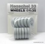 1-35-WHEELS-SET-for-HENSCHEL-33D-Truck-Late-War-Type-Road-Pattern