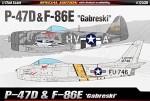 1-72-Republic-P-47D-and-North-American-F-86E-Gabreski