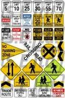 RARE-1-24-TRAFFIC-CONTROL-SIGNS-SALE