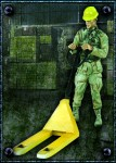 RARE-1-35-US-Soldier-with-Pallet-jack-SALE