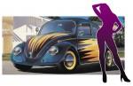 1-24-Volkswagen-Beetle-1966-Cal-looker-w-Blonde-Girl-Figure