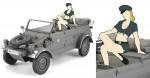 1-24-Pkw-K1-Kubelwagen-Type-82-w-Blonde-Girls-Figure