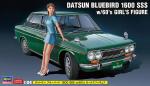 1-24-Datsun-Bluebird-1600-SSS-w-60-s-Girl-Figure