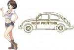 1-24-Wild-Egg-Girls-No-03-Volkswagen-Beetle-Hazumi-Rei-w-Figure