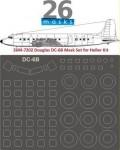 1-72-Douglas-DC-6B-Vinyl-mask-set-for-Heller