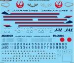 1-144-JAL-Japan-Air-Lines-Douglas-DC-8-556162-Screen-printed-decal