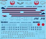 1-144-JAL-Japan-Air-Lines-Douglas-DC-8-556162-Screen-printed-decal