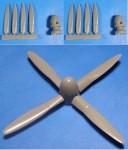 1-48-P-61-Black-Widow-propeller-and-spinner-for-Revell