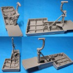 1-48-B-24-Liberator-Wheel-Wells-and-Landing-Gear-for-Revell