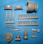 1-48-Re-2002-Cowl-Engine-and-Propeller-for-Tamiya-Italeri