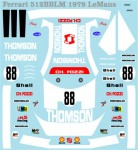 1-64-Ferrari-512BB-1978-Le-Mans-Decal-for-Kyosho