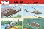 1-72-Bell-AH-1G-Huey-Cobra3x-kompletni-vylisky-Bez-obtisku-