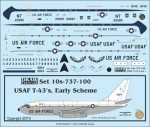 1-100-USAF-T-43As-Set-I-Early-Scheme-Letters-Two-Aircraft