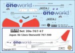 1-200-Japan-Air-Lines-Oneworld-767-300-JA604J