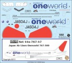 1-144-Japan-Air-Lines-Oneworld-767-300-JA604J