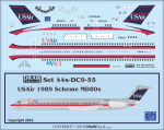 1-144-Minicraft-MD80-Bagged-Kit-with-USAir-Decal