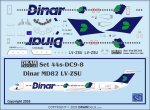 1-144-Minicraft-Bagged-MD80-Kit-w-Dinar-Argentina-Decal