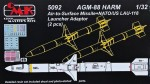 1-32-AGM-88-HARM-Air-to-Surface-Missile-2-pcs-