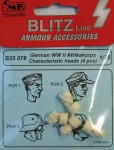 1-35-German-WWII-Afrikakorps-heads-4-pcs-