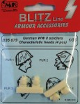 1-35-German-WWII-Soldiers-heads-4-pcs-