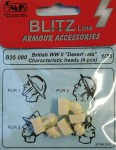 1-35-British-WWII-Desert-rats-heads-4-pcs-