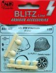 1-35-US-helmets-WWII-6-pcs-