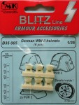 1-35-German-helmets-WWII-6-pcs-