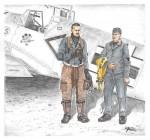 1-72-Bf-109E-Ace-A-Galland-and-mechanic-2-fig-