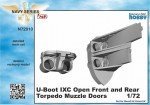 1-72-U-Boot-IXC-Open-Front-and-Rear-Torp-Muzzle-Doors