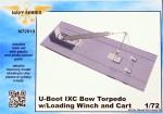 1-72-U-Boot-IXC-Bow-Torpedo-w-Loading-Winch-and-Cart