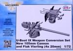 1-72-U-Boot-IX-Weapon-Conv-Set-105mm-cannon-and-Flak