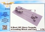 1-72-U-Boot-IXC-Stern-Torpedo-w-Loading-Winch-and-Cart
