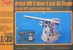 1-35-British-WWII-Naval-4-inch-HA-Cannon
