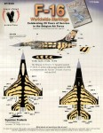 RARE-1-72-F-16-Belgian-31-Tiger-4-sheets-SALE