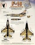 RARE-1-72-F-16-Belgian-31-Tiger-4-sheets-SALE