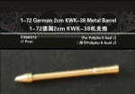 1-72-German-2cm-KWK-38-Metal-Barrel