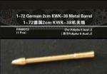 1-72-German-2cm-KWK-38-Metal-Barrel