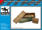 1-32-Luftwafe-WWII-bomb-SC250-+-crate-box-No-1
