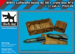 1-32-Luftwaffe-WWII-bomb-Sc50-+-crate-box-No-1