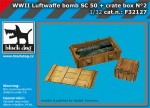 1-32-Luftwaffe-WWII-bomb-Sc50-+-crate-box-No-2