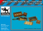 1-32-Luftwaffe-WWII-bombs-Sc50-+-crate-boxes-SET
