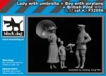 1-32-Lady-w-umbrella-boy-and-British-Pilot-3-fig