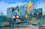 1-72-Concrete-Land-Ship-British-WWI-project